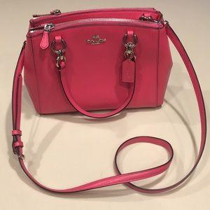 Coach mini carryall leather purse